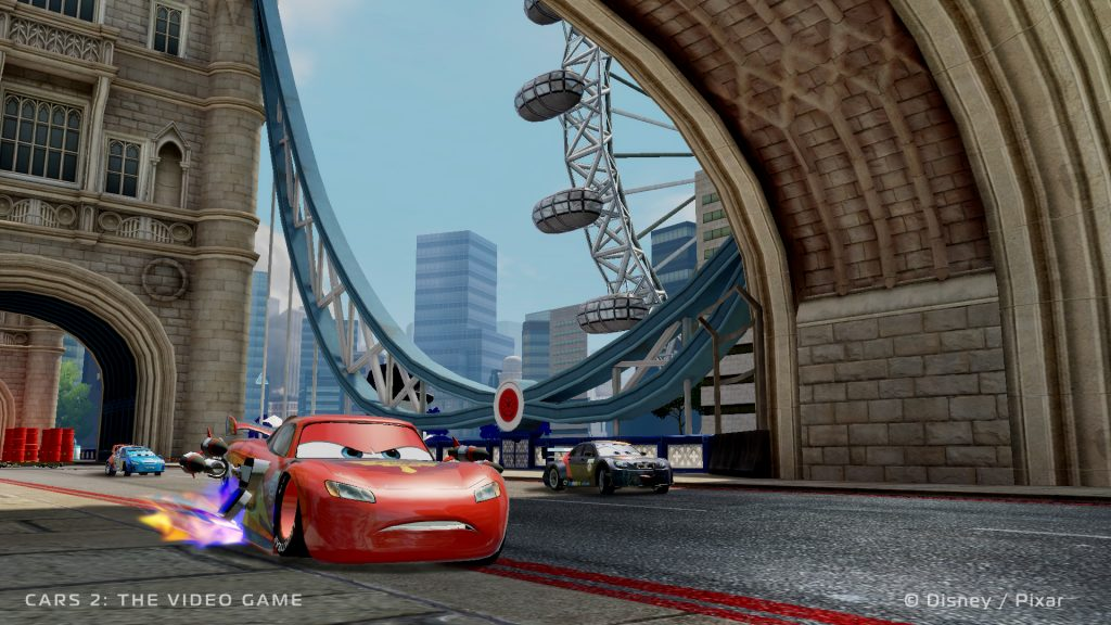 """In-game screenshot of """"Cars II"""" (2011)"""