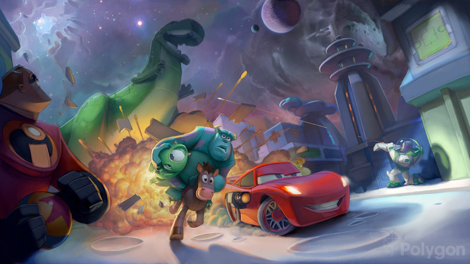 """Early mood piece for """"Disney Infinity"""" (2013)"""
