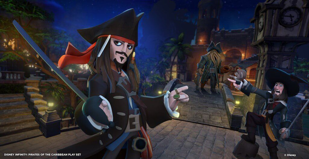 """Marketing piece for """"Disney Infinity: Pirates of the Caribbean"""" Play Set (2013)"""