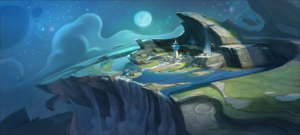 """Outpost Concept Art for """"Disney Infinity: Toy Story"""" Play Set (2013)"""