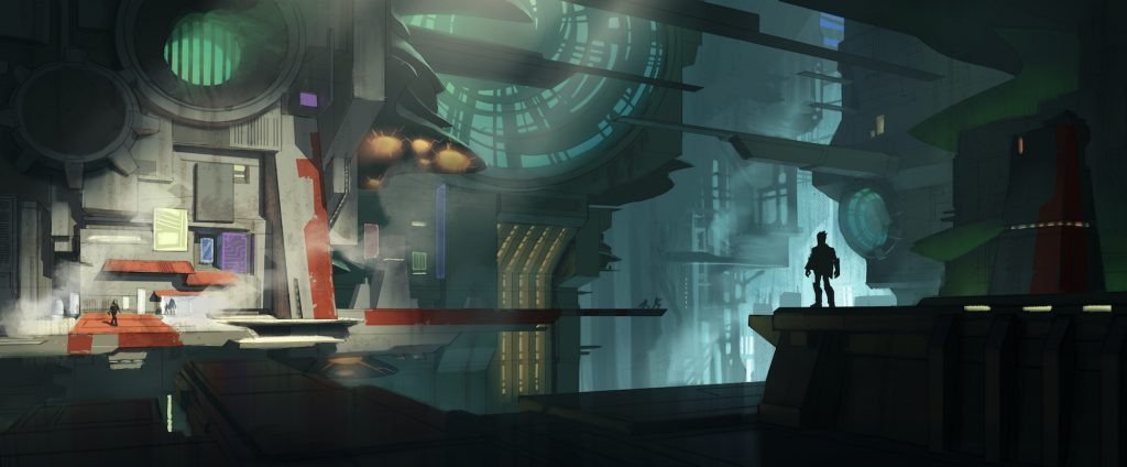 """Environment Concept Art for """"Disney Infinity 2.0 Edition: Marvel's Guardians of the Galaxy"""" Play Set (2014)"""
