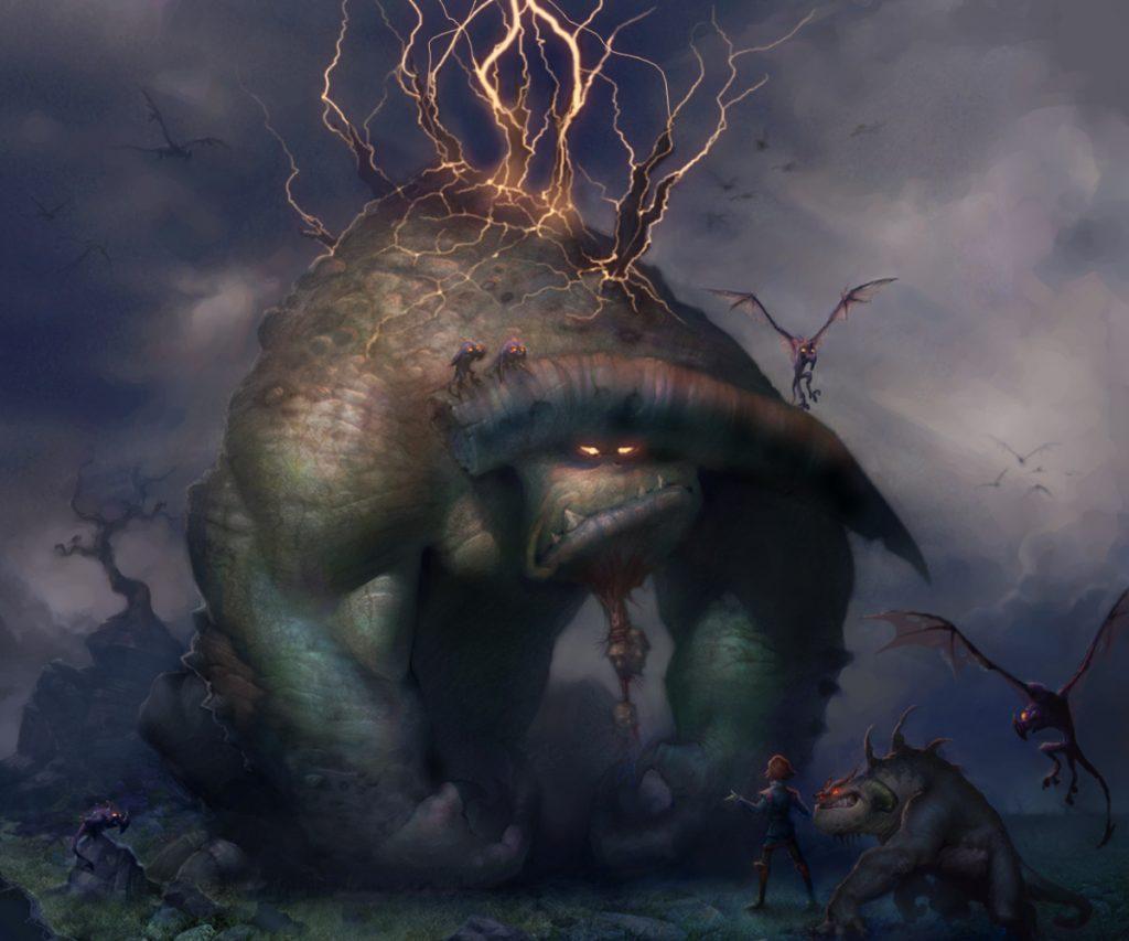 """Monster Concept Art for """"Jabberwocky"""" (2004 - unreleased)"""
