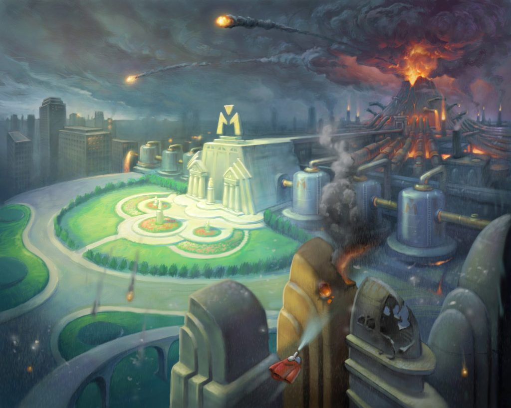 """Environment Concept Art for """"Meet the Robinsons"""" (2007)"""
